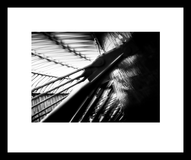 A strong black frame works well with these strong B&W images