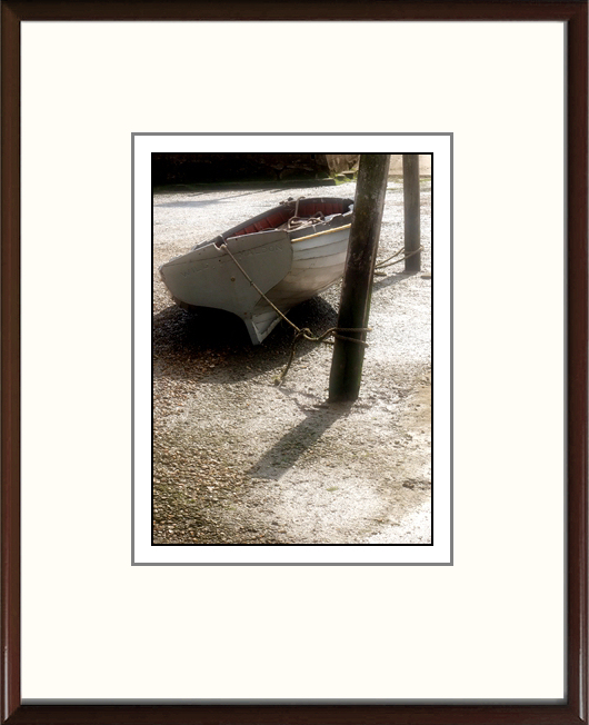 Classic wood frame over ivory mount, black edge to image